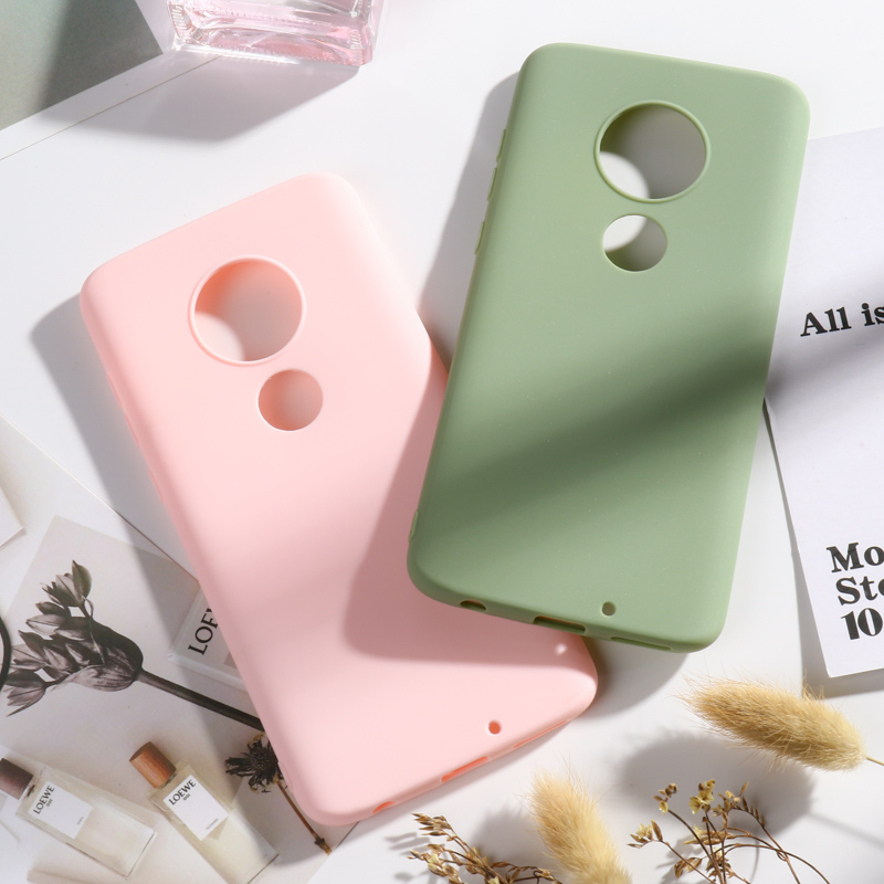 Candy Color Case For Moto E5 Play Go Cases Soft Silicone Back Cover On The For Moto G7 G6 Plus 2018 G7 Power Play Bumper Capa