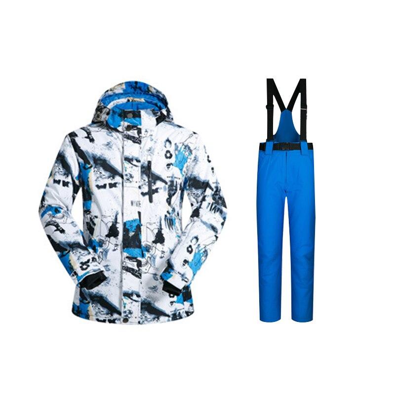 MUTUSNOW Ski Suit Men Winter Warm Snow Jackets And Pants Windproof Waterproof Ski Equipment Snowboard Jacket