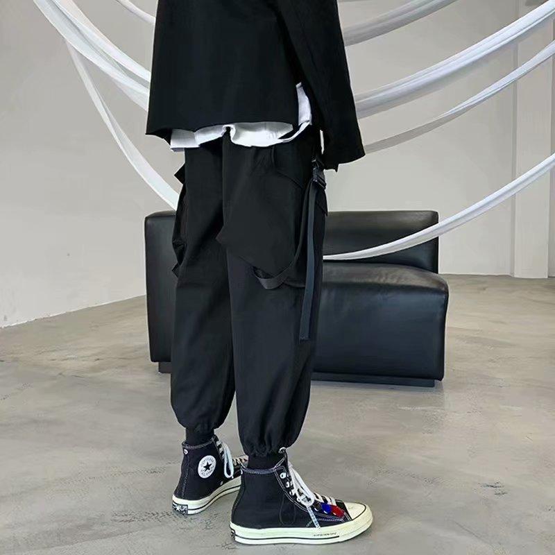 2020 Men Casual  Hip Hop Cargo Pants Mens Loose Collage Pants Male Streetwear Trousers  Oversize S-3XL