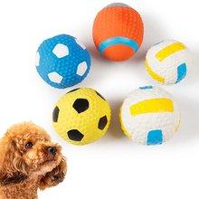 5 шт мягкий скрипучий собачий мяч жесткая собака чистые зубы