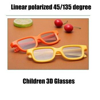 Shark Teeth 50pcs/lot Yellow Orange CHILDREN 3D Glasses Linear Polarization 45/135 degrees Linear Polarized 3D Glasses for Kids