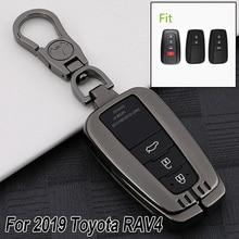 Для Toyota RAV4 черный алюминиевый сплав смарт-кейс чехол держатель аксессуар