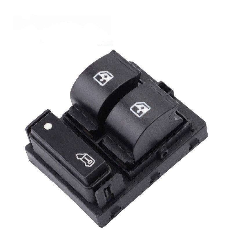 Black 8 Pin 735421419 Car Window Triple Control Switch Button For FIAT Ducato
