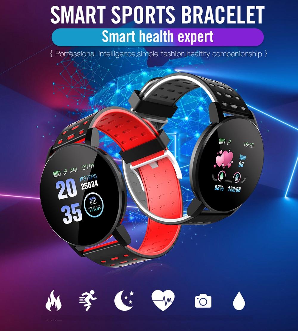 H627df75eedbf4fc3964d84b79effe412Q Fitness Bracelet Blood Pressure Measurement Smart Band Waterproof Fitness Tracker Watch Women Men Heart Rate Monitor Smartband