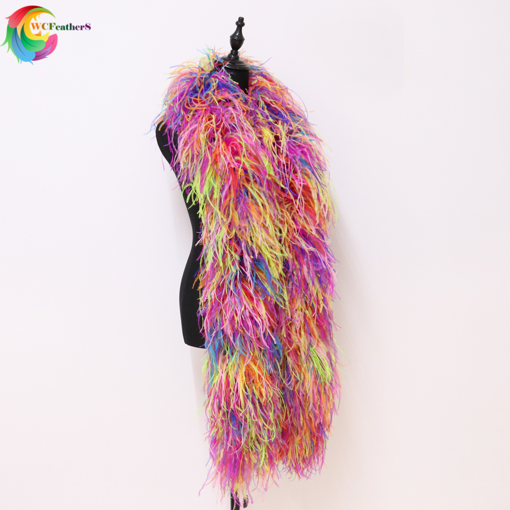 10 Ply Baby Pink Ostrich Feather Boa 2m