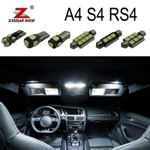 Image 1 - Idealny biały błąd Canbus bezpłatne żarówki LED wnętrze kopuły mapa napowietrznych zestaw oświetleniowy dla Audi A4 S4 RS4 B5 B6 B7 B8 ( 1996 2015)