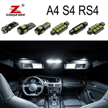 Perfect White Canbus Error Free LED bulb interior dome map overhead light Kit for Audi A4 S4 RS4 B5 B6 B7 B8 ( 1996   2015 )