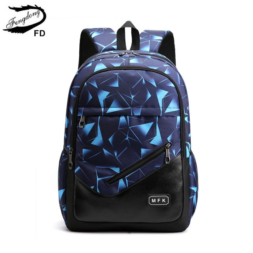 FengDong Kids School Backpack Boy Bag Man Woman Back Pack Male Laptop Backpack Men Travel Bags Boys School Bags Laptop Bag 15.6