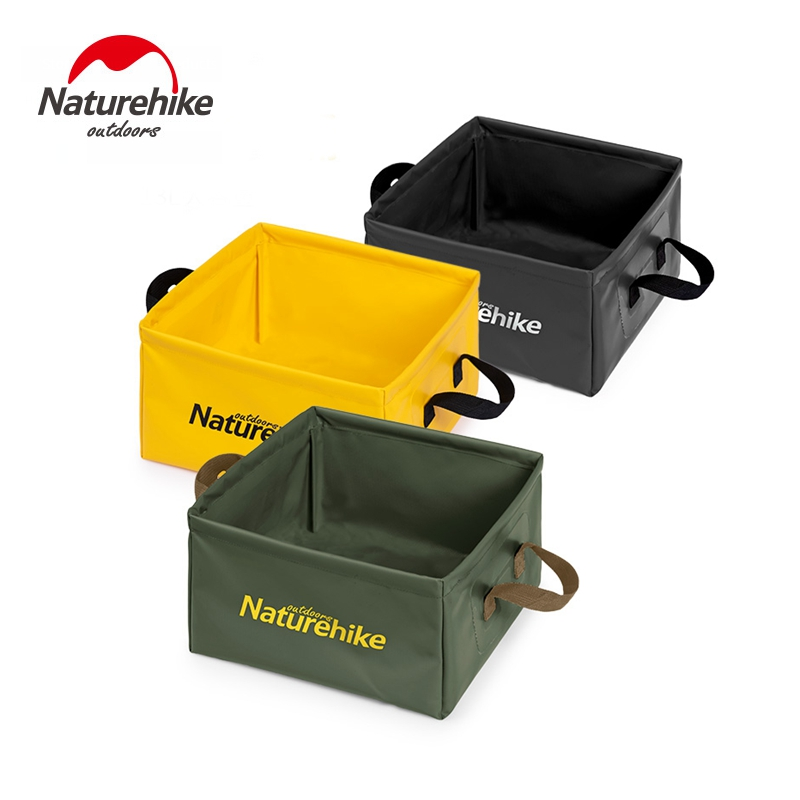 Naturehike Water Sink Bucket 13L Foldable Square Storage Bag Travel Portable Outdoor Durable Camping Hiking NH19SJ007