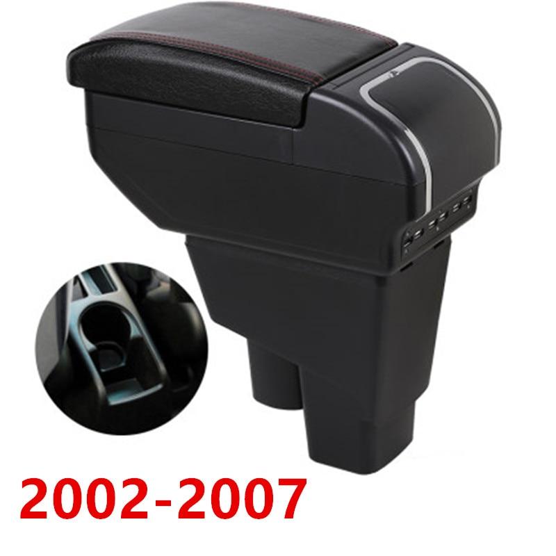 Подлокотник для хэтчбека Honda Fit Jazz 2002-2007, центральный подлокотник с контейнером для хранения и подстаканником, пепельницей и USB-зарядкой