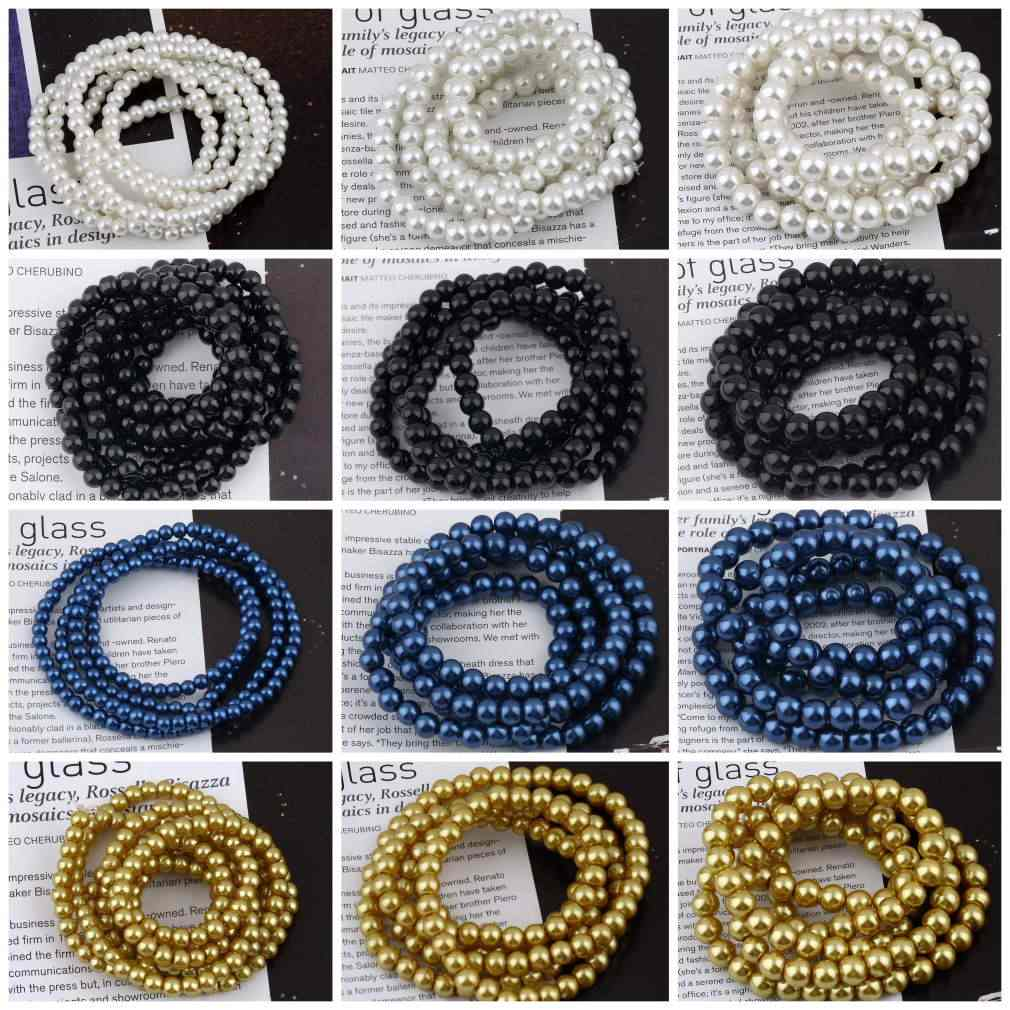 4 мм/6 мм/8 мм Свободные Круглые бусины шармы Подвески DIY самодельные браслеты для создания ювелирных изделий бусины для ручной работы ожерелье браслет
