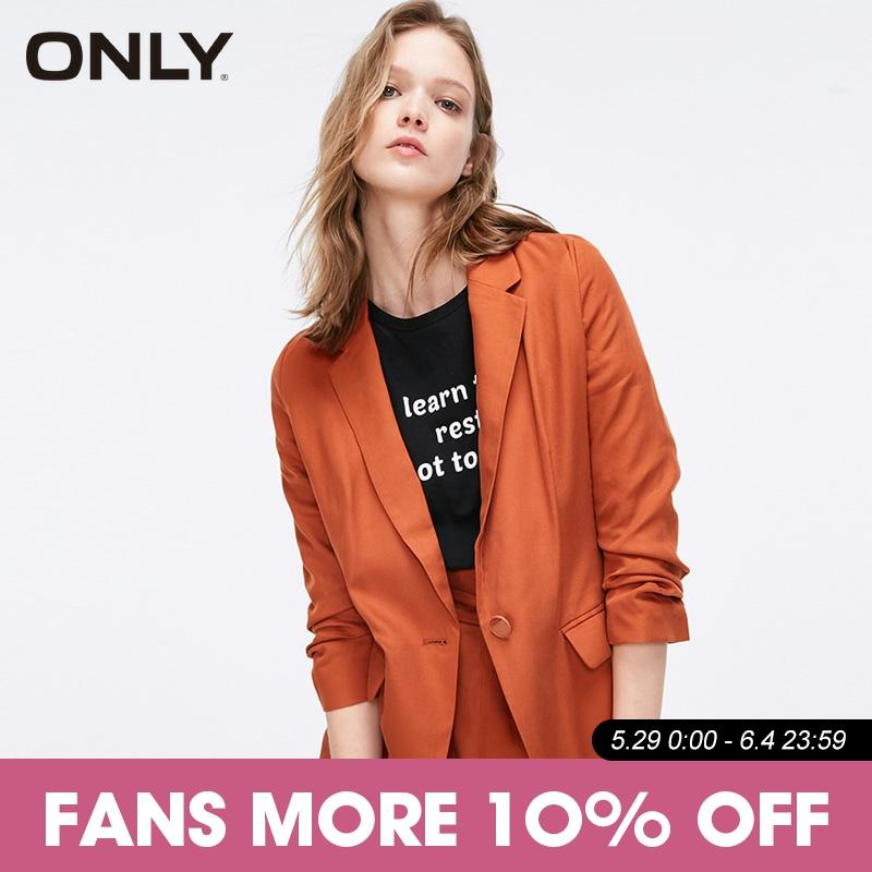 ONLY Women's Spring & Summer One-button 3/4 Sleeves Suit Jacket|119108541