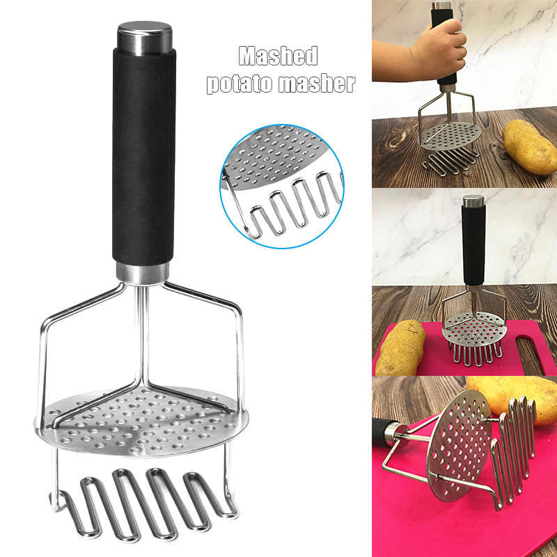 חם נירוסטה מועך תפוחי אדמה עם ידית נשלף אביב DIY פירה קל לשימוש כלי TI99