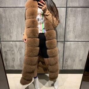 Image 4 - Pelz pullover fuchs pelz pullover lange 120 125cm länge fuchs pelz strickjacke