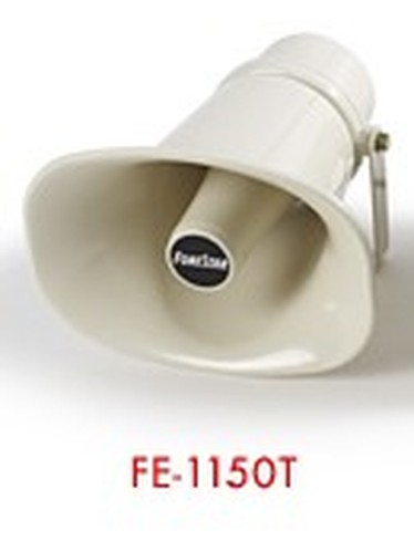 Horn PA 15 W 100 V Rectangular, Protection IP-66, ABS Material, Color Small Ivory, 22x16x23 Cm