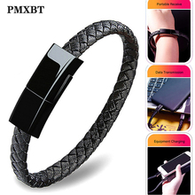 Leather Type C USB Bracelet Charger Data Charging Cable Sync Cord For Samsung S8 S9 Xiaomi Redmi Note 7 Type-C Phone