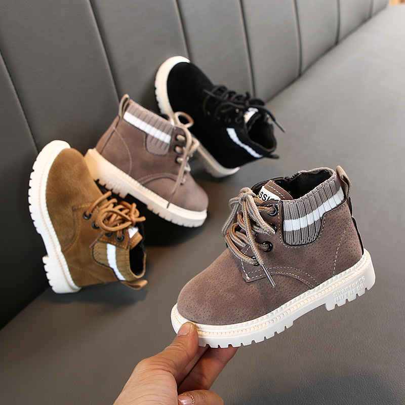 2019 Autumn Winter Baby Girls Boys Boots Infant Toddler Boots Child Martin Boots Soft Bottom Non-Slip Kids Outdoor Casual Shoes