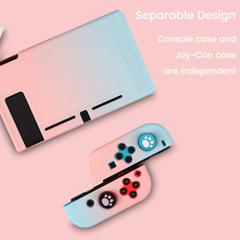 Detachable Colorful PC Case Fundas For Nintendos Nintend Switch NS NX Cases Hard Plastic Back Cover Shell Coque Ultra Thin 3
