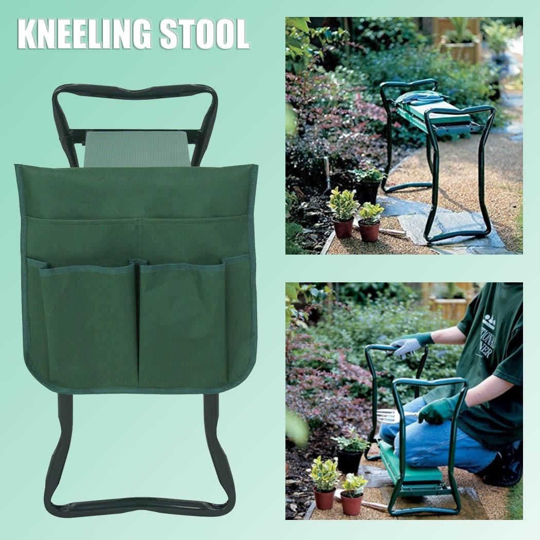 Garden Bench Outdoor Patio Garden Chair Furniture Balcony Garden Kneeler Folding Seat Stool With Tool Bag EVA Kneeling Pad