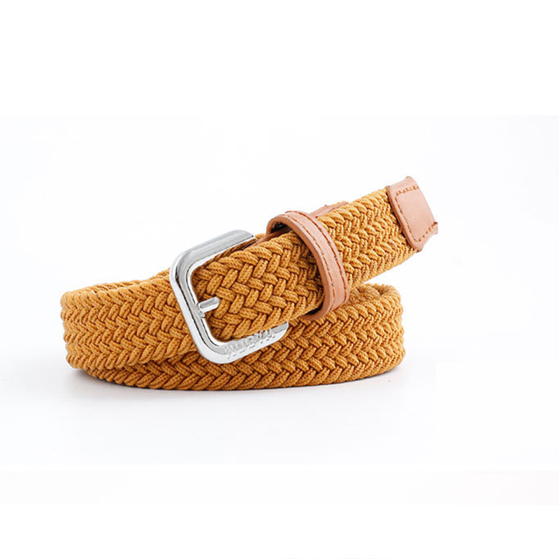 Hand-woven Belt Unisex Woven Thin Belt Elastic Elastic Casual Pants Student Trend Parent-child Suit Canvas Belt  Designer Belt