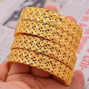 Image 5 - Wando Große Grand luxe Öffnen Armbänder & Armreifen für Frauen/Mädchen Dubai Frankreich Hochzeit Armreifen Armband Nahen Osten schmuck geschenk