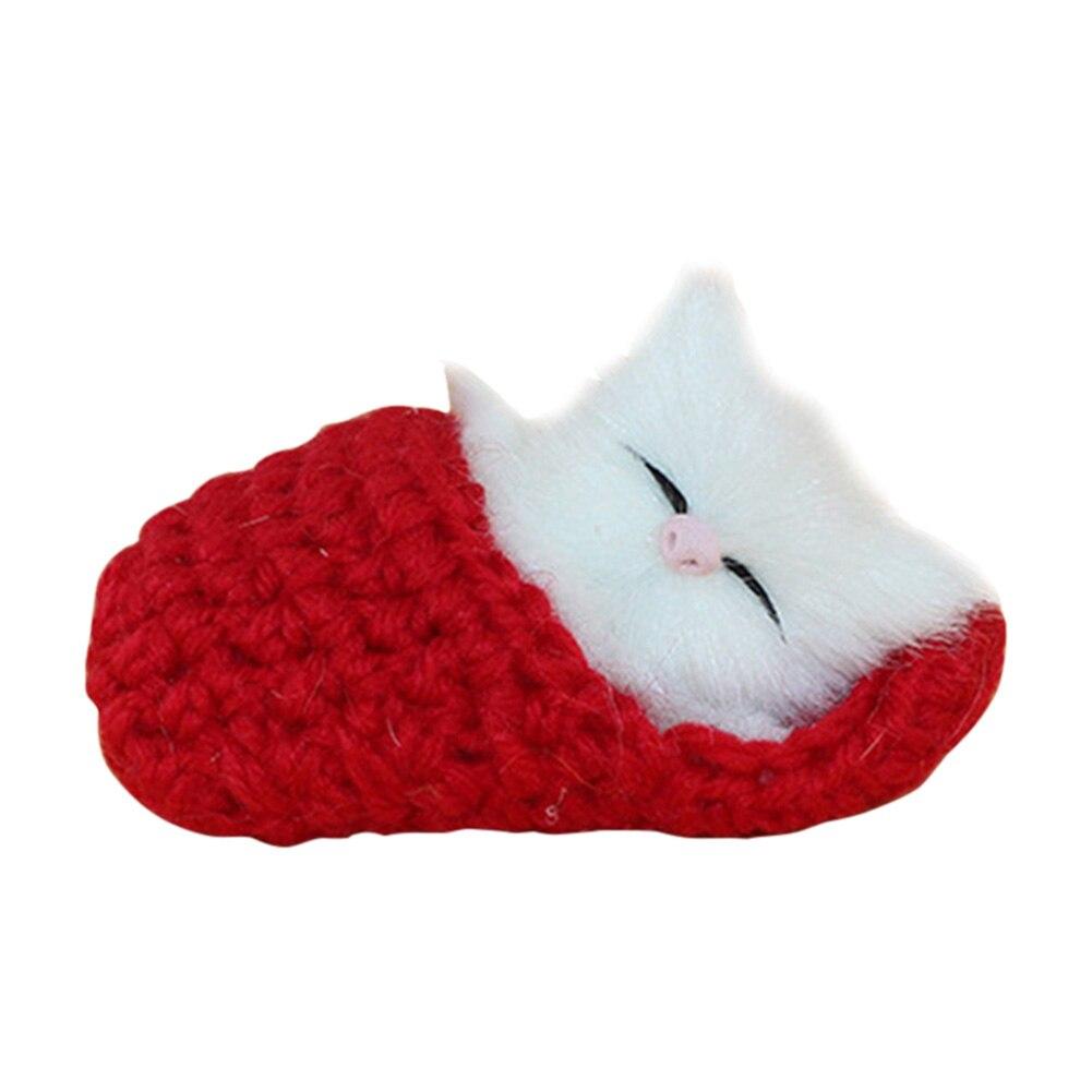 High Quality Lifelike Kid Toys Cute Plush Slippers Cat Soft Doll Simulation Sound Toys