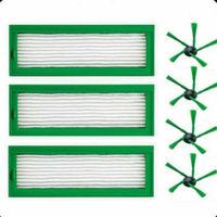 3 filtros 4 escovas laterais aspirador de pó casa ferramenta para vorwerk kobold vr200|Peças p/ aspirador de pó| |  -