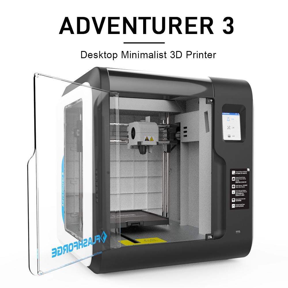Flashforge 3D Printer Adventurer 3 DIY Kit Auto-leveling WIFI Out of Box Built-in Camera Automatic Leveling 3D Cloud Printing 2