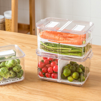 Refrigerator Food Storage Containers with Lids Kitchen Storage Seal Tank Plastic Separate Vegetable Fruit Fresh Box Big Ml