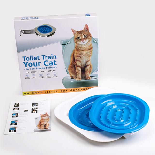 Cat Toilet Seat Training Kit Puppy Litter Potty Tray Mat Pets Cleaning Supplies Training Cat Manufacturers For Clean Hygienic | Happy Baby Mama
