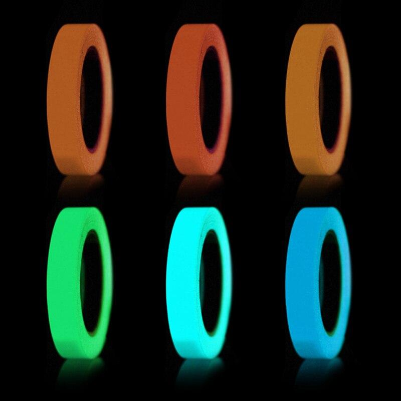 2cm Etapa Warning Cinta Adhesiva Azul Luminoso Cinta Adhesiva Extra/íble PVC Brilla en la Oscuridad Etapa Warning Cinta Luz Fluorescente Almacenaje Adhesivo Decorativo Cinta
