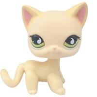 Лпс стоячки кошки Игрушки для кошек lps, редкие подставки, маленькие короткие волосы, котенок, розовый#2291, серый#5, черный#994,, коллекция фигурок для питомцев - Цвет: 733