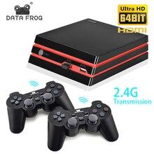 Consola de videojuego Retro Data Frog con 2,4G inalámbrico/gamepad con cable 600 juegos para consola de juegos HDMI Family TV para GBA/SNES