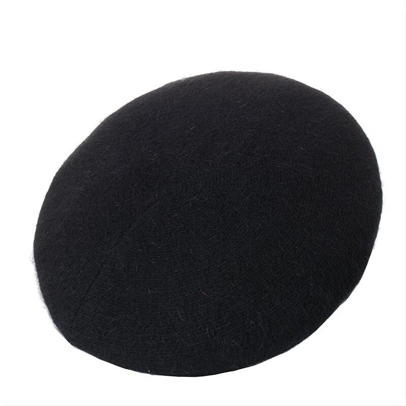 HANGYUNXUANHAO Women Beret Vogue Hat For Winter Female Knitted Cotton Wool Hats Cap Autumn 2019 Brand New Women 39 s Hats Caps in Women 39 s Berets from Apparel Accessories