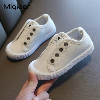 Autumn Kids Canvas Shoes Children Casual Soft Non-slip Solid Sneakers Boy Girl Flats Baby Shoes First Walkers Toddler Crib Shoes недорого