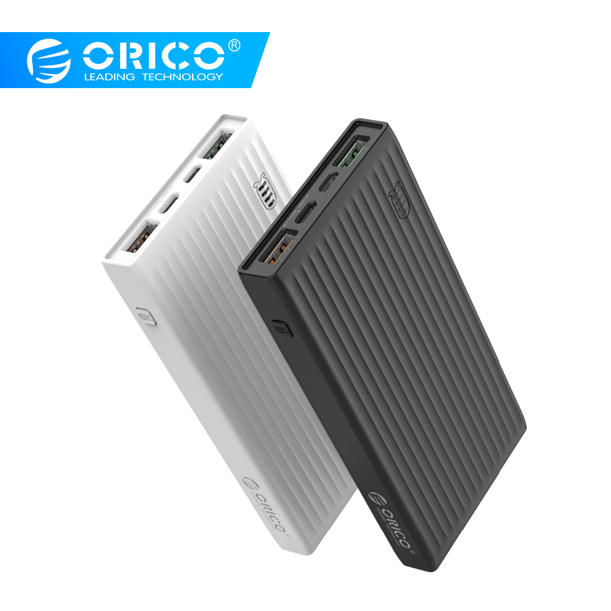 ORICO 20000mAh Universal Power Bank QC3.0 Quick Charge Dual-way Powerbank External Phone Backup Battery Charge For IPhone Huawei