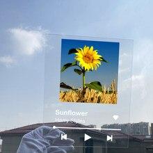 Flyangel capa de álbum personalizada, chaveiro de exibição de leitor de música, placa de cartaz de música acrílica, presente de natal