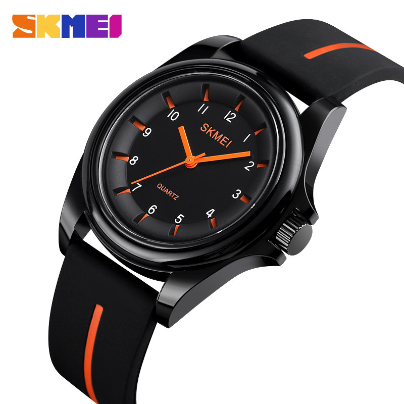SKMEI 1578 Fashion Men Women Watches Quartz Wristwatches 3Bar Waterproof Personality Colorful Silica Gel Band relogio feminino
