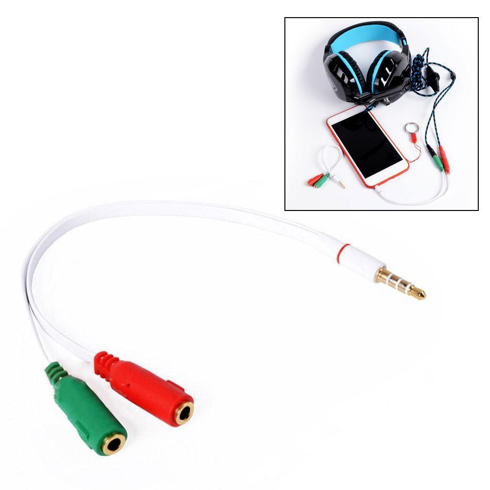 2 In 1 Splitter Cable Adapter 4 Pole 3.5mm Audio Earphone Mic For PC To Headphone Aux Computer Female Jack X1X3
