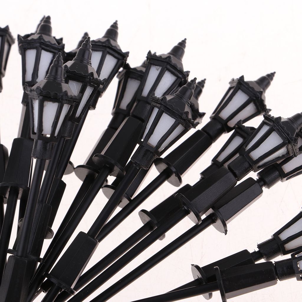 20PC 7cm Model Railway Led Lamppost Lamps Wall Lights 1:100 Scale 3V White
