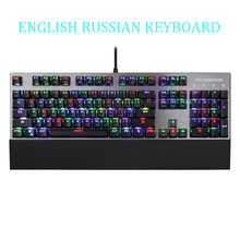 лучшая цена Motospeed CK108 Teclado Retroiluminado RGB Mechanical Keyboard Black English Russian Keyboard For Laptop Pc Clavier Gamer