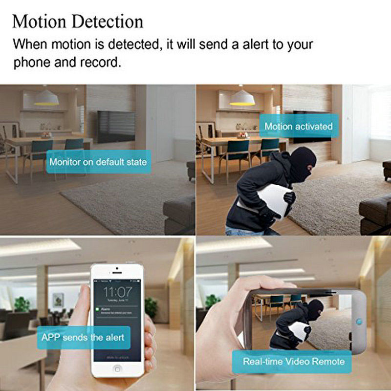 Image 5 - 1080P wifi IP Peephole Camera HD 2MP Home Security Door eye Motion Detection Mini Video Camera Build In IR 940nm/Audio Supported-in Surveillance Cameras from Security & Protection