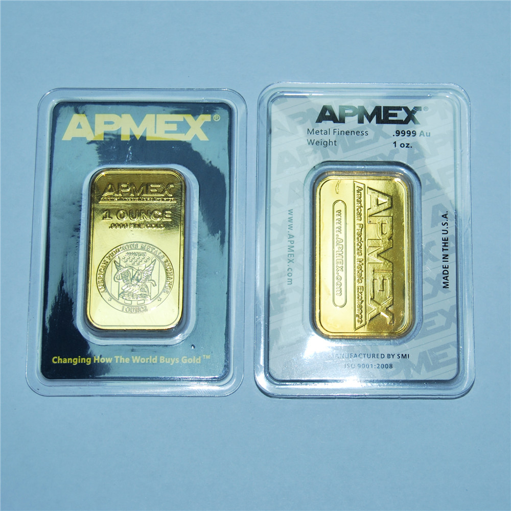 Золотой стержень APMEX, 1 унция, высокое качество, позолоченные бусины Apmex, Немагнитный Серебряный стержень, лидер продаж, деловой подарок, колл...
