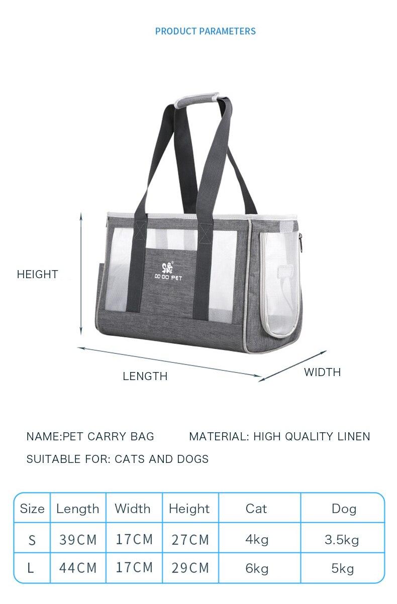 1Pc Fashionable Cat Carrier Bag
