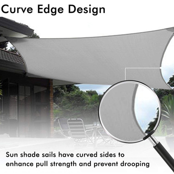 Hot 3X4m/4X4m UV Protecting 70% Waterproof Oxford Cloth Outdoor Sun Sunscreen Sun Shade Net DO2