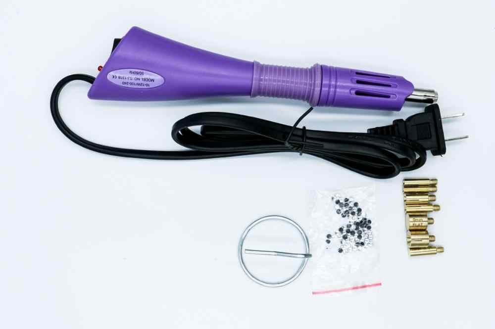 Ue/eua rápido aquecido hotfix strass aplicador ferro-na varinha ferramenta de correção de calor arma tamanho misturado quente fix strass vidro decoretion