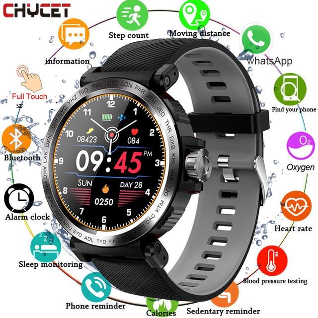 Sport Smart Watch Men Full Touch Round Screen Sleep Monitor Smartwatch Women Blood Pressure Heart Rate Fitness Tracker Watches