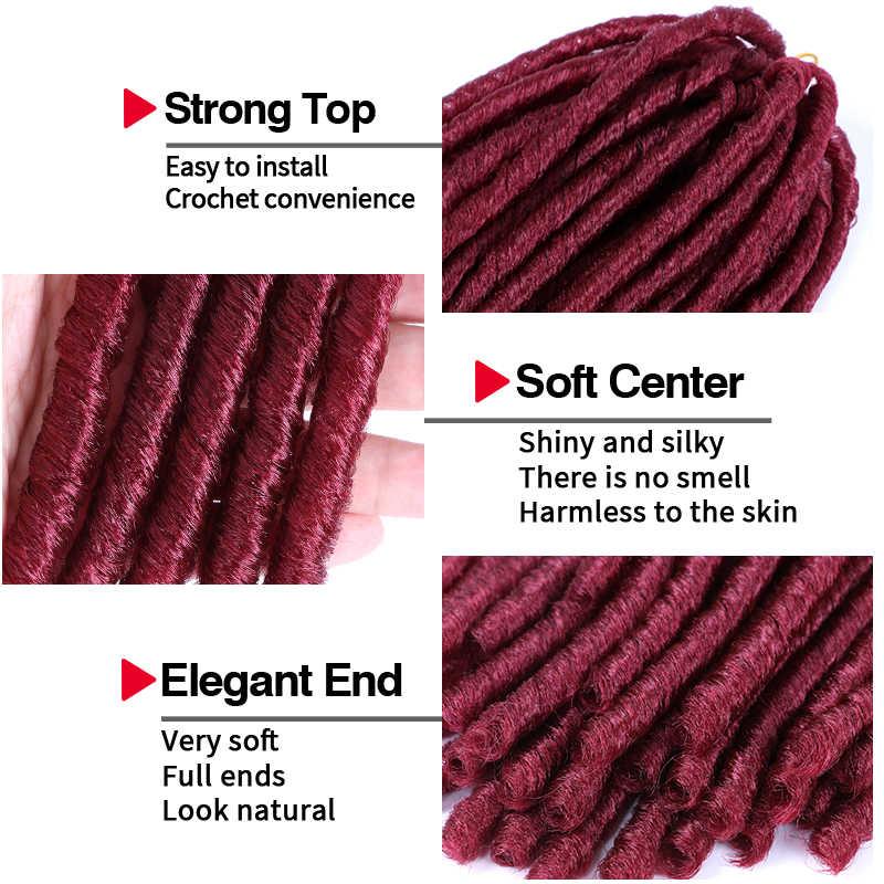 14 Polegada deusa locs crochê cabelo falso locs trança cabelo macio dreadlocks crochê tranças sintéticas dreads extensões msglamor