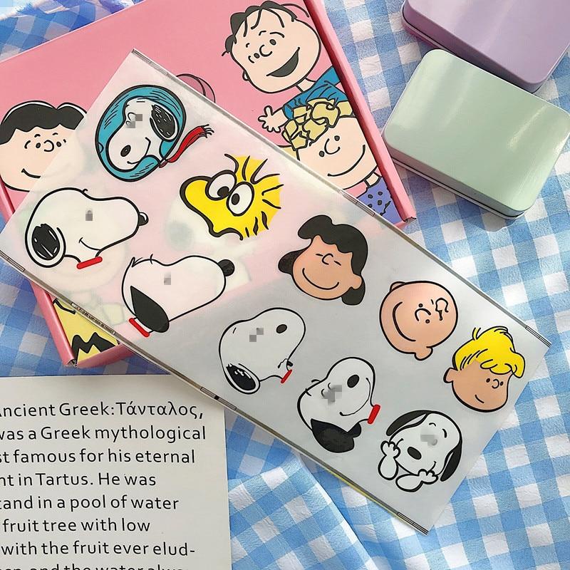 Купить с кэшбэком 1 Pc Cartoon Puppy Peanut Waterproof Sticker Handbook Wall Decorative Stickers Kawaii Notebook Suitcase Stickers Stationery