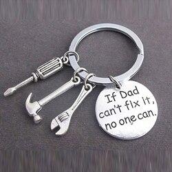 Nouveau si papa ne peut pas le réparer personne ne peut bricolage outil clé clé règle marteau modèle porte-clés porte-clés porte-clés cadeau 373180